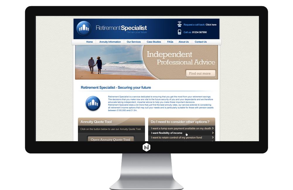 Retirement Specialists website