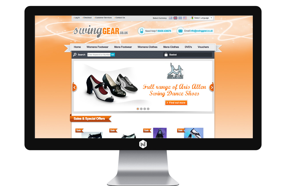 Swing Gear website
